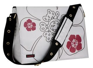 Laurex-Silver-Petal-Laptop-Messenger-Bag