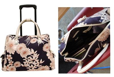 CareerBags Rolling Geisha Laptop Bag