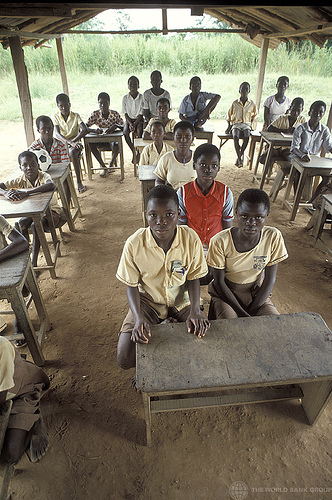 Kids in a Classroom in Africa
