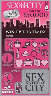Sex and the City BCLC Scratch and Win Ticket