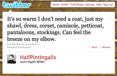 Laura Ingalls Tweets