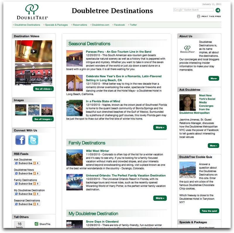 DoubleTree Destinations