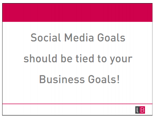 Your Social Media Goals Must Be Tied to Your Business Goals