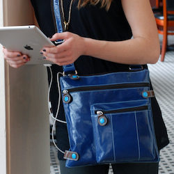 Urban Junket's Jen Powered Crossbody Bag for Tablets and iPads